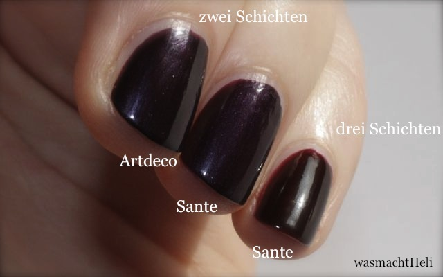 Swatch Artdeco 147, Sante Shiny Aubergine, Sante Aubergine Red