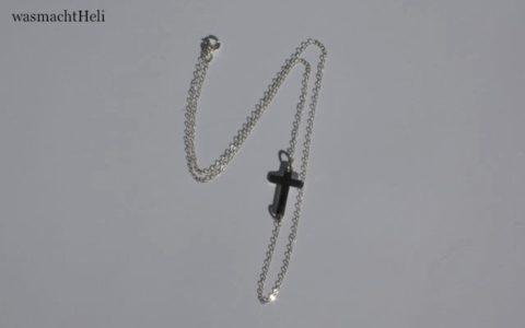 sideways cross necklace silber von Dawanda