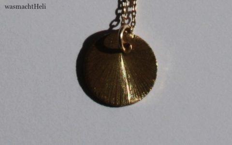 Sunspot Necklace gold Dawanda Detail