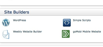 Installation WordPress.org bei Bluehost WordPress Site Builder