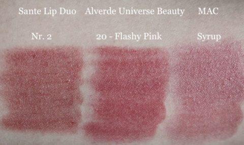 Alverde Universe Beauty Flashy Pink, Sante Lip Duo Nr. 2, MAC Syrup