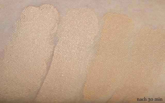 "Swatch + Review: NYX HD Photogenic Concealer Wand ""porcelain"", Alverde Camouflage ""001-sand"", Shiseido Natural Finish Cream Concealer ""1-light"", Clinique Airbrush Concealer ""4-neutral fair"""