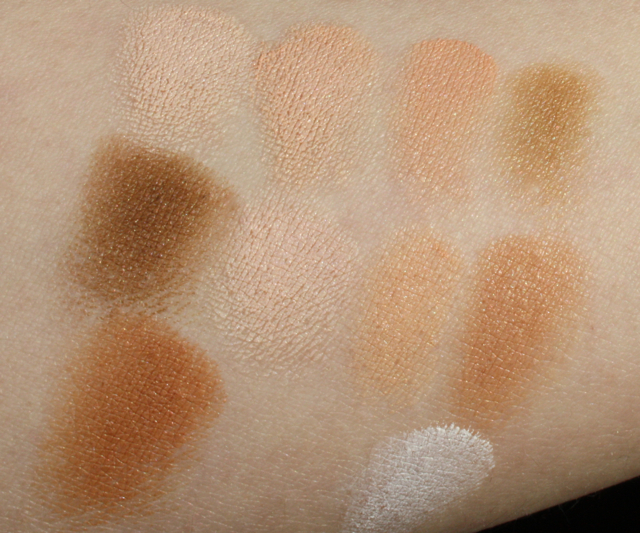 Swatches Covermark Foundation Camouflage 1,2,3,4,5,6,7,8,9,10