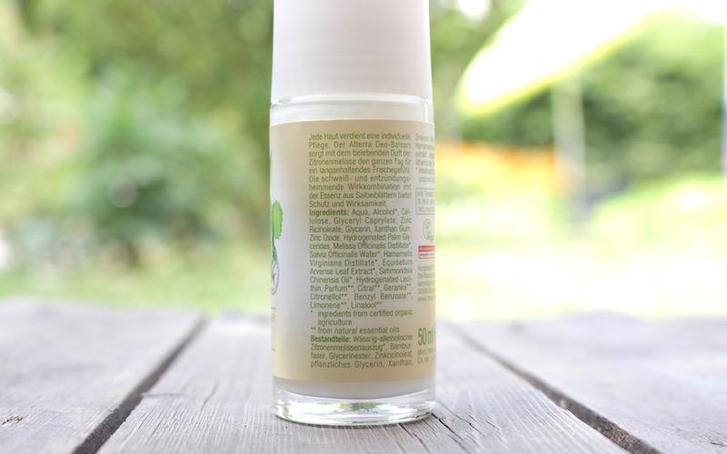 Inhaltsstoffe Alterra Deo Zitrone Salbei