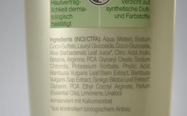 INCI Neobio Glanz Shampoo für jeden Haartyp