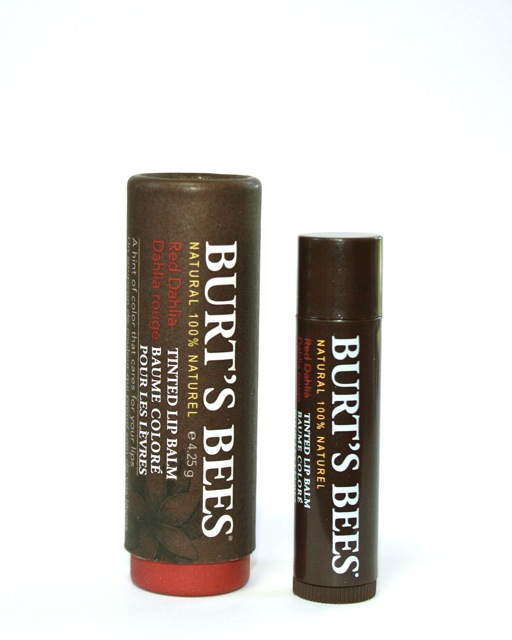 Review + Swatch: Burt's Bees Tinted Lip Balm Red Dahlia