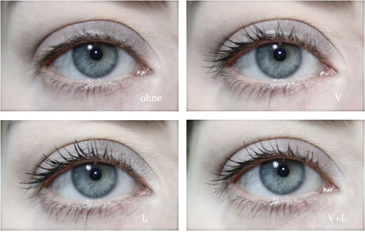 Lavera Trend Sensitiv Double Black Mascara schwarz - Tragebild