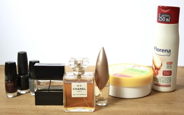 Chanel No 5, MAC Parfüm, Naomi Campbell, Artdeco Nagellack, OPI, Alverde Körperbutter, Florena Bodylotion