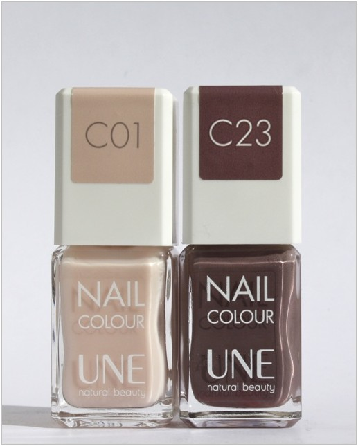 UNE Nail Colour C01, C23 - Swatches + Review