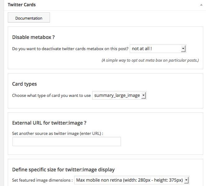 JM Twitter Cards Plugin