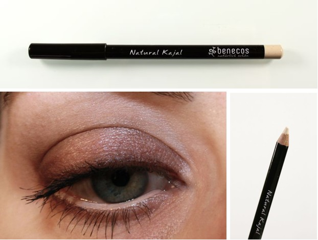 Benecos Natural Kajal white Swatch + Make-up
