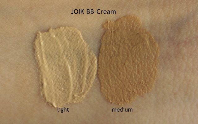 Swatch JOIK BB Cream light + medium