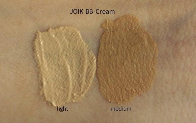 Swatch JOIK BB Cream light + medium