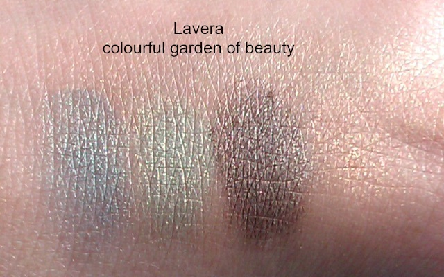 Heli-Lavera-Colourful-Garden-of-beauty-Swatches-Mermaid-Green-Green-Aurora-Gravel-Powder-Apricot-Paradise