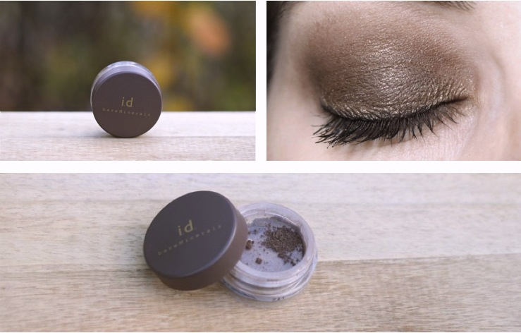 "Swatch and Make-up bareMinerals i.d. ""gold mine"""