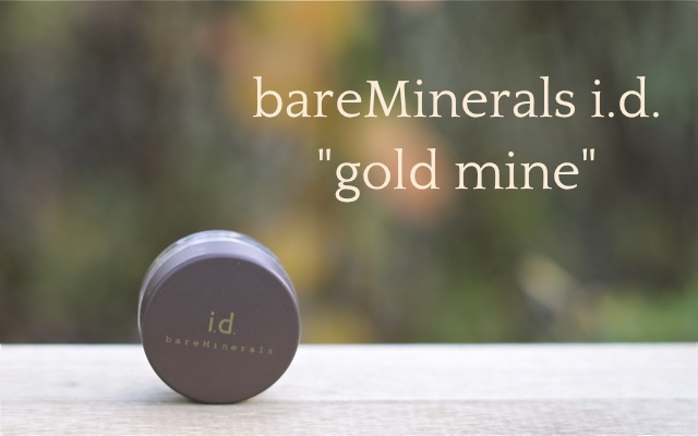 "Review: bareMinerals i.d. eye shadow ""gold mine"""