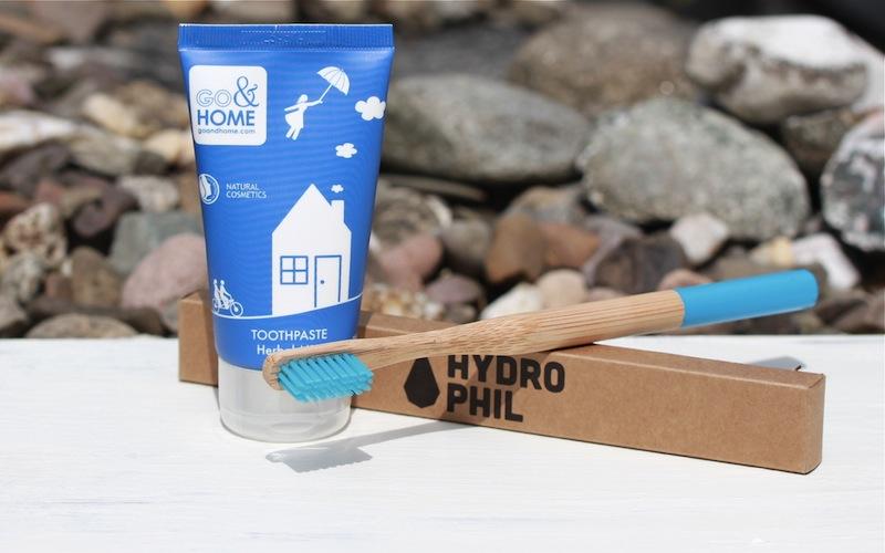 Go + Home Zahnpasta und Hydro Phil Zahnbürste im Test