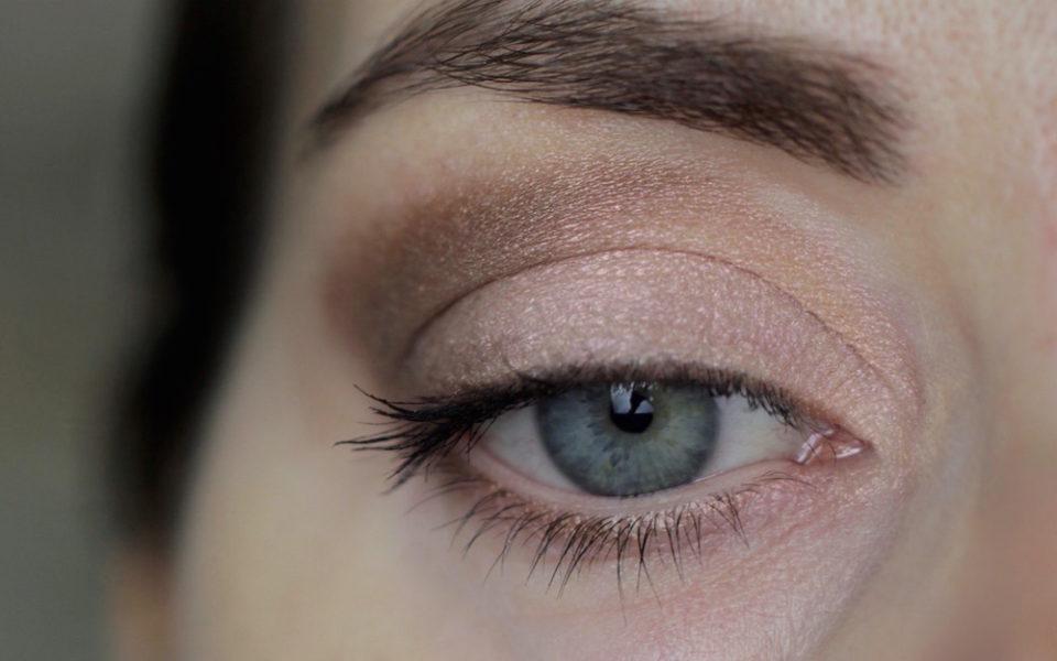 """Augenmakeup mit Alva Eyeshadow Duo """"gold"""""""