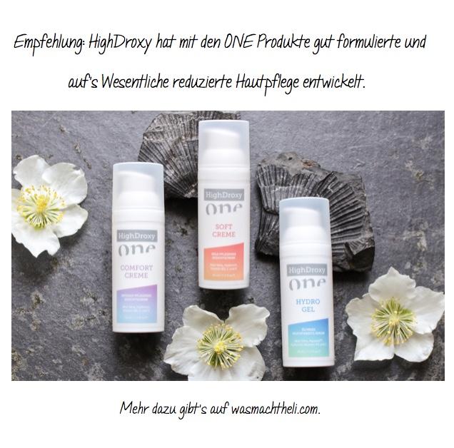 Gut formulierte Hautpflege mit Aloe Vera: die HighDroxy ONE Serie finde ich empfehlenswert.