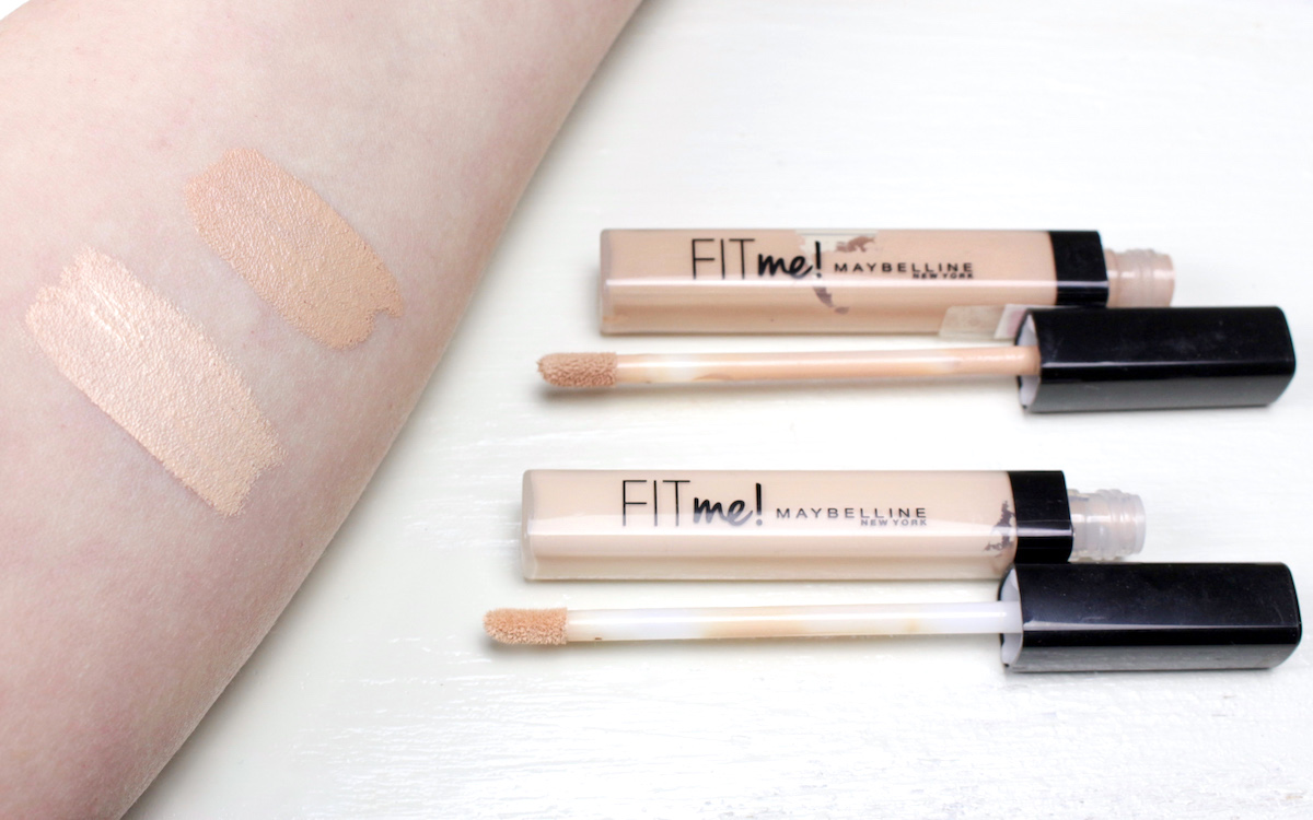 Swatch: Maybelline Fit Me Concealer 05 vs 15