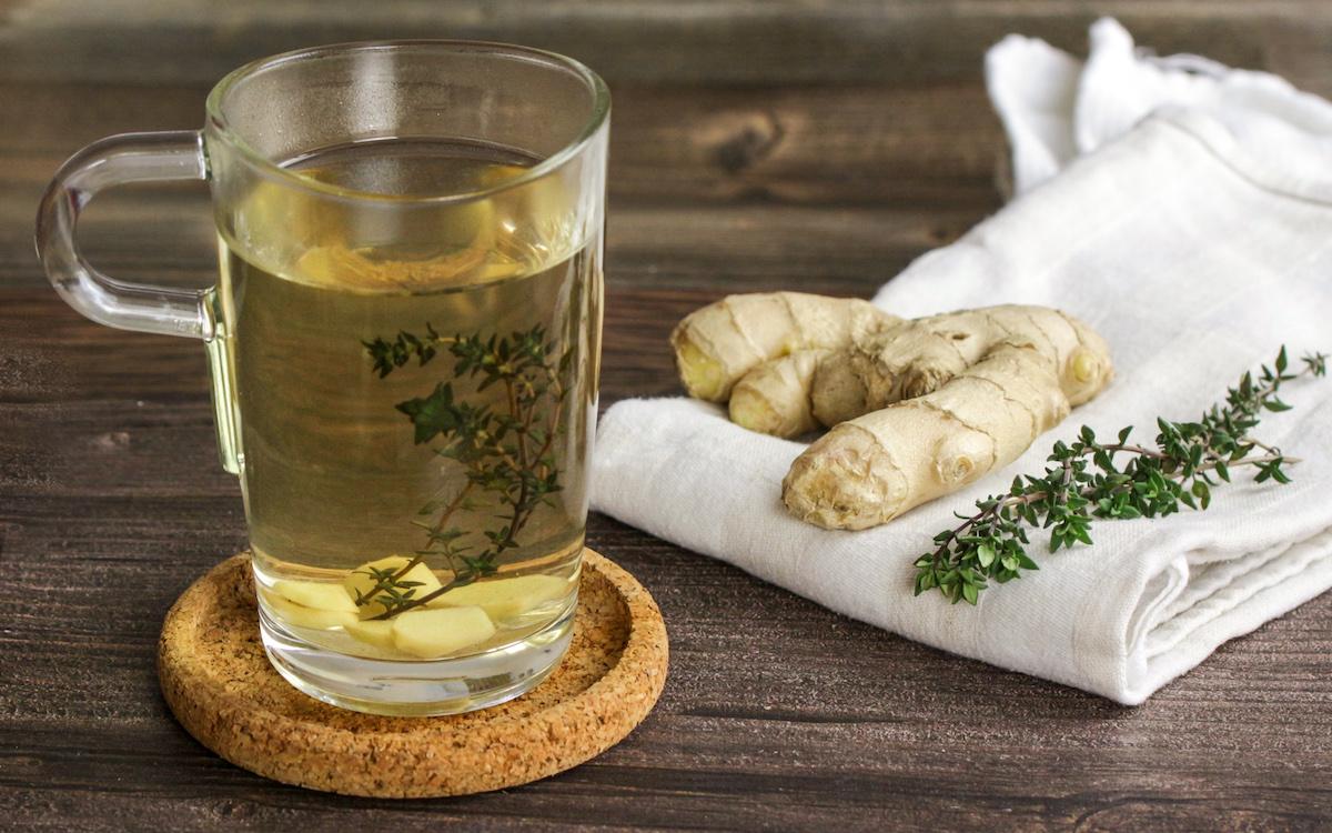 Thymian-Ingweer-Tee gegen Erkältung